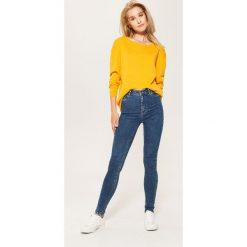 Jeansy high waist skinny - Turkusowy. Czarne jeansy damskie skinny marki KIPSTA, z poliesteru, do piłki nożnej. Za 79,99 zł.