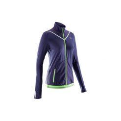 Bluza Do Biegania Kiprun Warm Damska. Fioletowe bluzy damskie marki KALENJI, z elastanu. W wyprzedaży za 99,99 zł.
