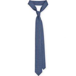 Krawat Mixkolor. Szare krawaty męskie LANCERTO, w geometryczne wzory, z mikrofibry, eleganckie. Za 79,90 zł.