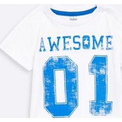 Blukids - Bluza + T-shirt dziecięcy 68-98 cm. Niebieskie bluzy męskie rozpinane marki Blukids, z bawełny, z kapturem. W wyprzedaży za 39,90 zł.
