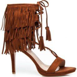 Rzymianki damskie: Brigitte – brązowe sandałki w stylu BOHO