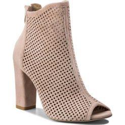 Buty zimowe damskie: Botki R.POLAŃSKI - 0920 Róż Pudrowy Zamsz