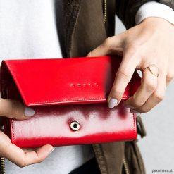 Portfel Damski Quill Brant Czerwony. Czerwone portfele damskie Pakamera, z materiału. Za 149,00 zł.
