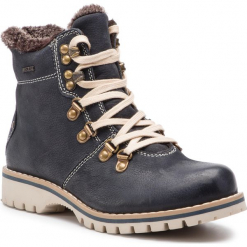 Trapery LASOCKI - WI16-218169 Granatowy. Niebieskie buty zimowe damskie Lasocki, z nubiku. Za 229,99 zł.