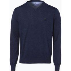 Swetry klasyczne męskie: Fynch Hatton – Sweter męski, niebieski