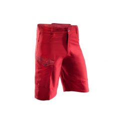 Szorty na rower MTB 500 męskie. Czerwone odzież rowerowa męska marki B'TWIN, m. W wyprzedaży za 39,99 zł.