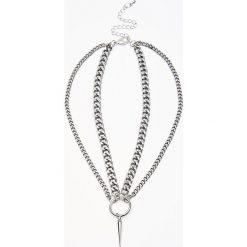 Naszyjniki damskie: Podwójny naszyjnik – Srebrny