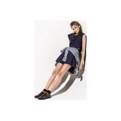 Spódnica Macarons granatowy. Niebieskie spódniczki rozkloszowane Kozacki Mops, s, z tkaniny. Za 79,00 zł.