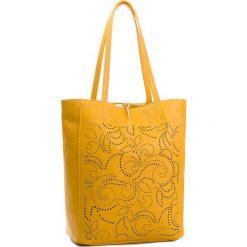 Torebka CREOLE - K10553  Żółty. Żółte torebki klasyczne damskie Creole, ze skóry. Za 279,00 zł.