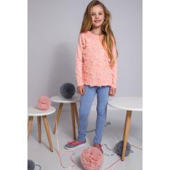 T-shirty dziewczęce: Łososiowa bluzka dziewczęca gwiazdki NDZ8136