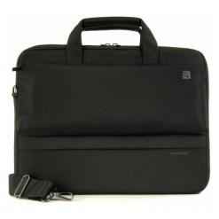 "Tucano Dritta Slim 14"" czarna. Czarne torby na laptopa Tucano, w paski. Za 79,00 zł."