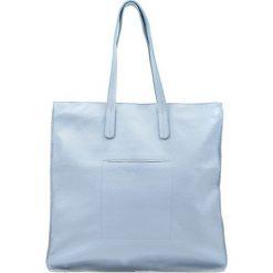 Torebki klasyczne damskie: Skórzana torebka w kolorze niebieskim – (S)41 x (W)41 cm