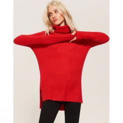 Sweter z golfem - Czerwony. Czerwone golfy damskie marki House, l. Za 89,99 zł.