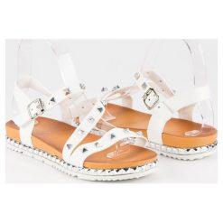 ANESIA PARIS białe sandały z ćwiekami białe. Czarne sandały damskie marki ANESIA PARIS. Za 69,00 zł.