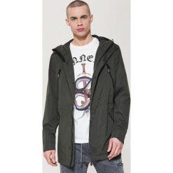 Płaszcze przejściowe męskie: Płaszcz o sportowym kroju z kapturem – Khaki