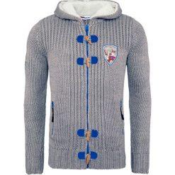 """Swetry męskie: Sweter rozpinany """"Jedro"""" w kolorze szarym"""