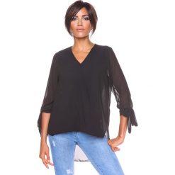 """Bluzki damskie: Koszulka """"Rose"""" w kolorze czarnym"""