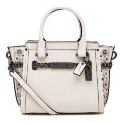 Torebki klasyczne damskie: Skórzana torebka w kolorze beżowym – (S)27 x (W)18 x (G)10 cm