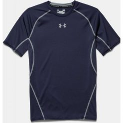Koszulki sportowe męskie: Under Armour Koszulka termoaktywna HeatGear® Compression Shortsleeve M granatowa r. XS (1257468-410)