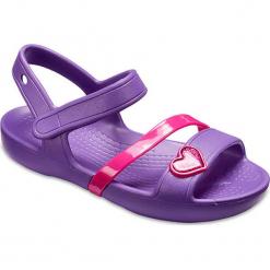 """Sandały """"Lina"""" w kolorze fioletowym. Fioletowe sandały dziewczęce marki Crocs. W wyprzedaży za 65,95 zł."""