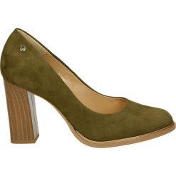 Czółenka - 101398 CAM KH. Brązowe buty ślubne damskie Venezia, ze skóry. Za 219,00 zł.
