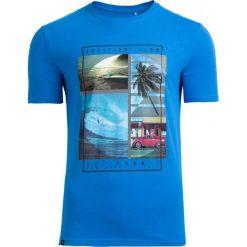 T-shirt męski TSM606 - niebieski - Outhorn. Niebieskie t-shirty męskie Outhorn, na lato, m, z bawełny. Za 39,99 zł.