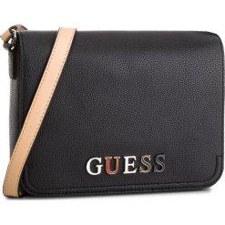 Torebka GUESS - HWBL66 91210  BLA. Czarne listonoszki damskie marki Guess, z aplikacjami, ze skóry ekologicznej. Za 519,00 zł.