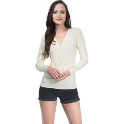 Swetry rozpinane damskie: Sweter w kolorze kremowym