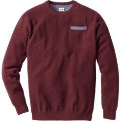 Swetry męskie: Sweter Regular Fit bonprix bordowy