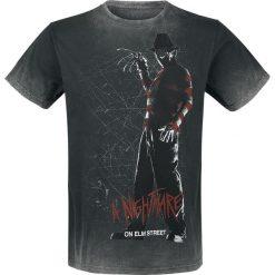 T-shirty męskie z nadrukiem: Koszmar z ulicy Wiązów Silhouette T-Shirt szary