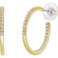 Biżuteria i zegarki: Pozłacane kolczyki-półkreole z kryształkami Swarovski