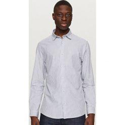 Koszule męskie na spinki: Koszula w paski – Granatowy