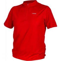 Koszulka rowerowa w kolorze czerwonym. Czerwone koszulki sportowe męskie Ciepło i przytulnie, m, z nadrukiem, z tkaniny. W wyprzedaży za 49,00 zł.