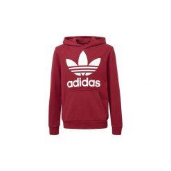 Bluzy Dziecko adidas  Bluza z kapturem Trefoil. Czerwone bluzy dziewczęce rozpinane marki Adidas, z kapturem. Za 229,00 zł.