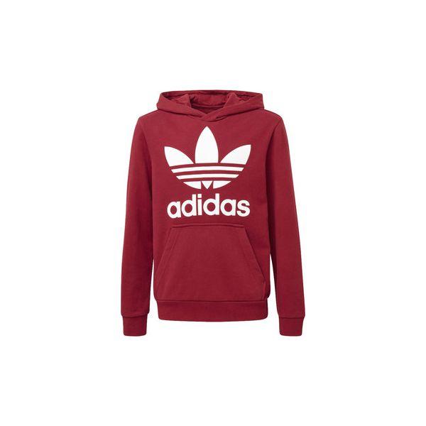 35a1596b8a Bluzy Dziecko adidas Bluza z kapturem Trefoil - Czerwone bluzy ...