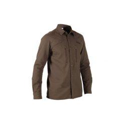 Koszula myśliwska Renfort 500. Brązowe koszule męskie na spinki marki SOLOGNAC, s, z bawełny. Za 99,99 zł.