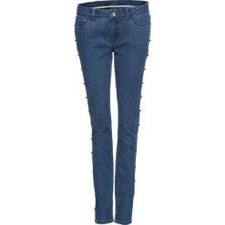 """Dżinsy z perełkami bonprix niebieski """"stone"""". Niebieskie jeansy damskie skinny marki House, z jeansu. Za 139,99 zł."""