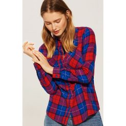 Koszula w kratę - Niebieski. Szare koszule damskie marki House, l, z dzianiny. Za 39,99 zł.