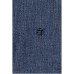 Trussardi - Koszula. Szare koszule męskie na spinki marki Trussardi, z bawełny, button down, z długim rękawem. W wyprzedaży za 399,90 zł.