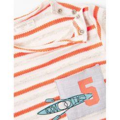 Mango Kids - T-shirt dziecięcy Montgat 80-104 cm. Szare t-shirty chłopięce marki bonprix, m, melanż, z dzianiny, z kontrastowym kołnierzykiem. W wyprzedaży za 29,90 zł.