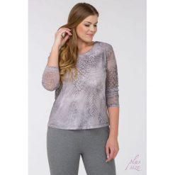 Bluzki asymetryczne: Wzorzysta bluzka z siateczki Plus II