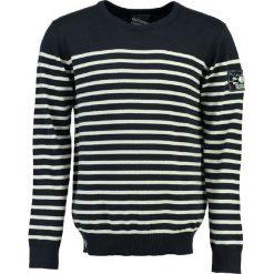 """Swetry męskie: Sweter """"Frontal"""" w kolorze granatowo-białym"""