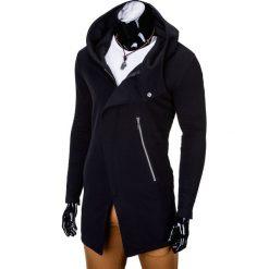 BLUZA MĘSKA ROZPINANA Z KAPTUREM B668 HUGO - CZARNA. Czarne bluzy męskie rozpinane marki Ombre Clothing, l, z bawełny, z kapturem. Za 99,00 zł.