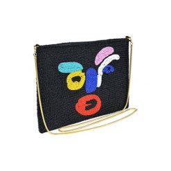 Puzderka: Kopertówka w kolorze czarnym ze wzorem – (D)25 x (S)15 cm