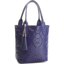 Torebka CREOLE - K10554  Granat. Niebieskie torebki klasyczne damskie Creole, ze skóry. W wyprzedaży za 189,00 zł.
