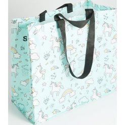 Torba na zakupy - Niebieski. Niebieskie torebki klasyczne damskie Sinsay. Za 5,99 zł.