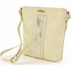 Torebki i plecaki damskie: Efektowna torebka listonoszka biały ze srebrnym
