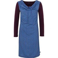 """Sukienki hiszpanki: Lniana sukienka """"Desi"""" w kolorze ciemnofioletowo-niebieskim"""