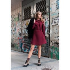 Sukienki: Bordowa Sukienka My Time
