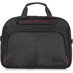 Torba na laptopa 56-3S-633-1A. Czarne torby na laptopa marki Wittchen, w paski, z materiału. Za 319,00 zł.